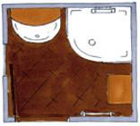 Grundriss Bad-Edition 323, praktischer Spiegelschrank,