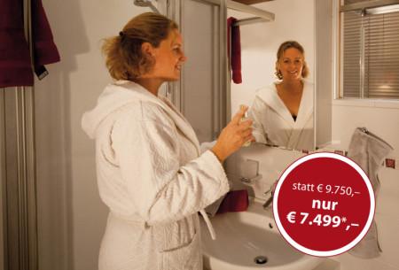 pflegeleichte Badezimmerausstattung,  kleines Badezimmer, Firma Bad Wien
