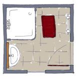 Planung Badezimmer, Grundriss Bad Wien