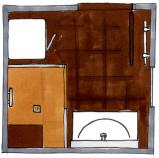Grundriss Bad Edition 401, individuelle Planung, Dusche statt Wanne, Kleinbad , Sanierung, bodenebene Dusche