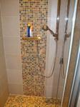 Harmonisch Akzente Mosaik Badsanierung Kleinbad kleines Bad Renovierung Wien